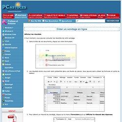Créer un sondage en ligne