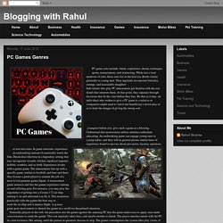 Blogging with Rahul: PC Games Genres