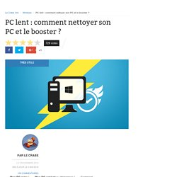 PC lent : comment nettoyer son PC et le booster ?