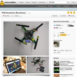 PCB Quadrotor (Brushless)