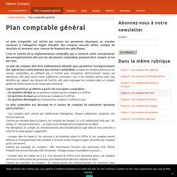 PCG : Plan Comptable Général