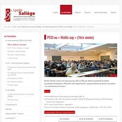 """PCSI ou """"Maths sup"""" (1ère année) - Lycée post-bac Saliège le 01/02 de 9h30 à 16h"""