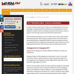 PCV Training (Bus, Coach & Minibus) -