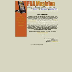 PDAMusician's PocketPC Music Software