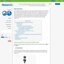 PDC drill bits -