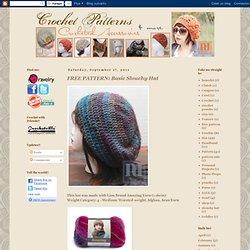 FREE PATTERN: Basic Slouchy Hat