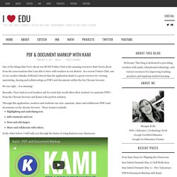 PDF & Document Markup with Kami – i ❤ edu