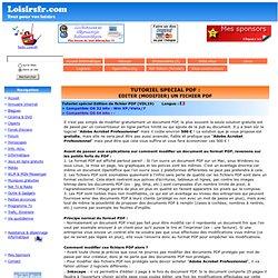 PDF Editer (Modifier un fichier PDF)