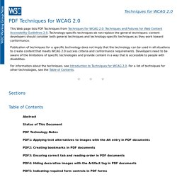 Techniques for WCAG 2.0