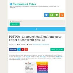 un nouvel outil en ligne pour éditer et convertir des PDF