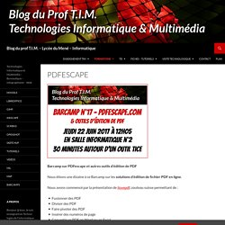 Blog du prof T.I.M. - Lycée du Mené - Informatique
