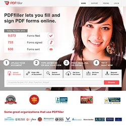 On-line PDF form Filler, Editor, Type on PDF ; Fill, Print, Email, Fax and Export