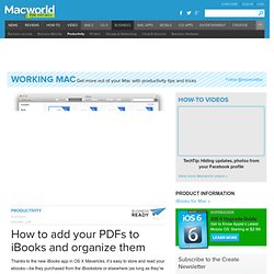 How to add your PDFs to iBooks and organize them