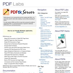 PDFtk Server