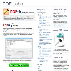 PDFtk - The PDF Toolkit