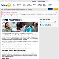 Peace Fellowships