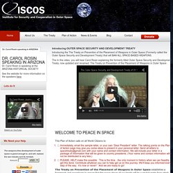 ISCOS - institute for security and cooperation in outer space