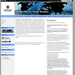 U Calgary: Peace Studies