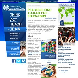Peacebuilding Toolkit for Educators