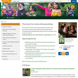 Center for Justice & Peacebuilding – Eastern Mennonite University