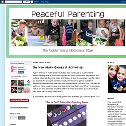 Peaceful Parenting: Six New Math Games & Activities!