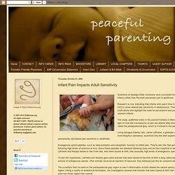 Infant Pain Impacts Adult Sensitivity
