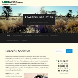 Peaceful Societies