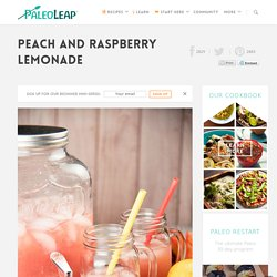 Peach And Raspberry Lemonade