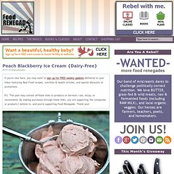 Peach Blackberry Ice Cream {Dairy-Free}