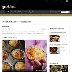 Peach, oat and coconut muffins Recipe