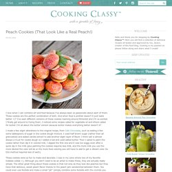 Peach Cookies {That Look Like a Real Peach!}