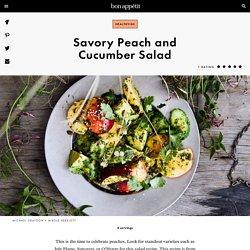 Peach and Cucumber Salad Recipe