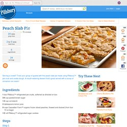 Peach Slab Pie recipe from Pillsbury.com