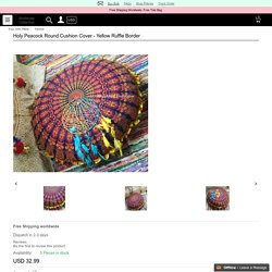 Attractive & Stylish design of Round Cushion Cover