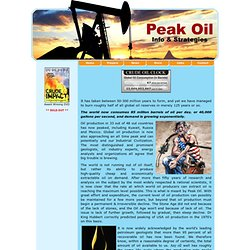 Peak Oil: The End of the Oil Age