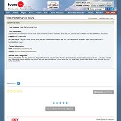 Peak Performance Tours : Tours.com