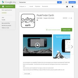PeakFinder Earth – Applications Android sur Google Play