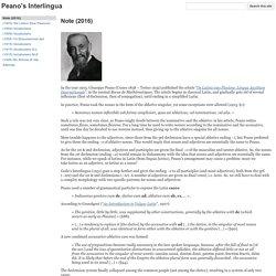 Peano's Interlingua