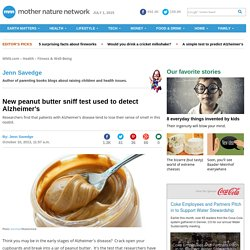 New peanut butter sniff test used to detect Alzheimer's