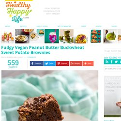 Fudgy Vegan Peanut Butter Buckwheat Sweet Potato Brownies