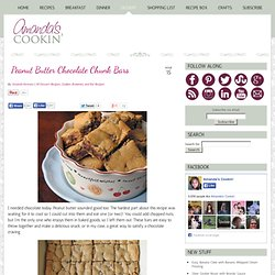 Peanut Butter Chocolate Chunk Bars - Amanda's Cookin'