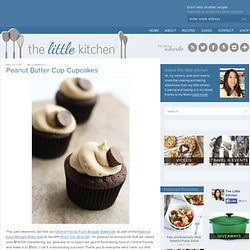 Peanut Butter Cup Cupcakes & Food Blogger Bake Sale — the little kitchen