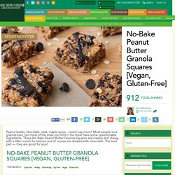 No-Bake Peanut Butter Granola Squares [Vegan, Gluten-Free]