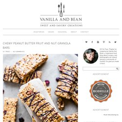 Chewy Peanut Butter Fruit and Nut Granola Bars - Vanilla And Bean