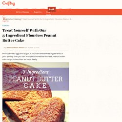 Peanut Butter Cake Recipe With Only 3 Ingredients
