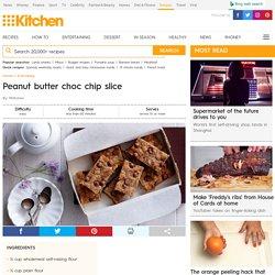 Peanut butter choc chip slice recipe - 9Kitchen