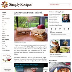 Apple Peanut Butter Sandwich Recipe