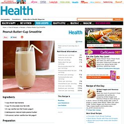 Peanut-Butter-Cup Smoothie - Health.com