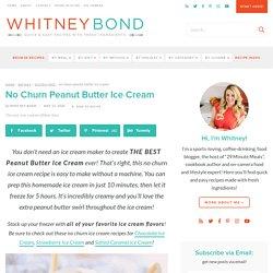 Easy No Churn Peanut Butter Ice Cream - WhitneyBond.com