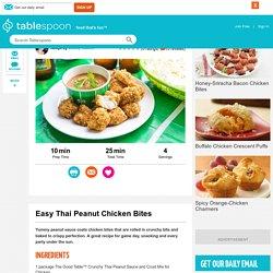 Easy Thai Peanut Chicken Bites recipe